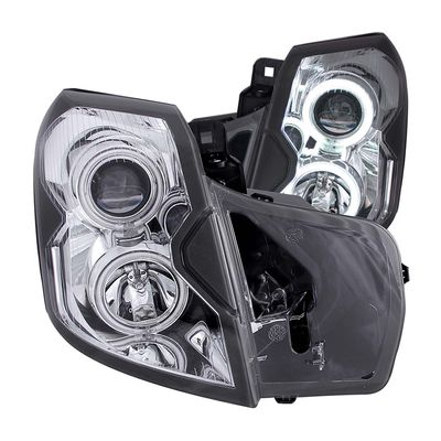 03-07 Cadillac CTS [Halogen Model] VIP CCFL Halo Projector Headlights - Chrome