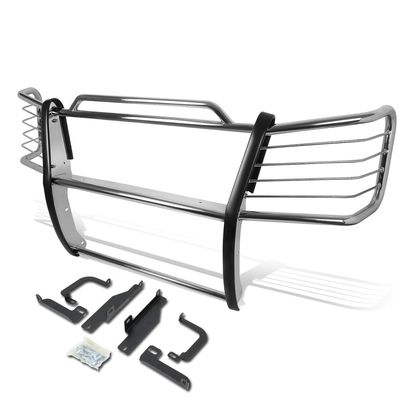 03-07 Chevy Silverado 2500 HD / 3500 Front Bumper Protector Brush Grille Guard (Chrome)