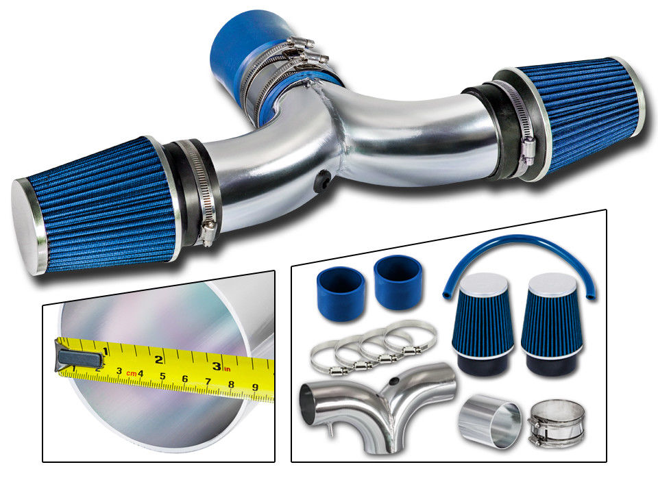 Cold Air Intake For Dodge Ram 1500 5.7 Hemi >> 03 08 Dodge Ram 1500 5 7l V8 Dual Short Ram Air Intake