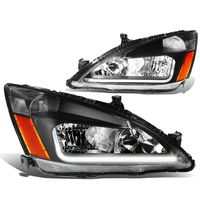03-07 Honda Accord LED Optic-DRL Replace Headlights - Black