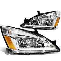 03-07 Honda Accord LED Optic-DRL Replace Headlights - Chrome
