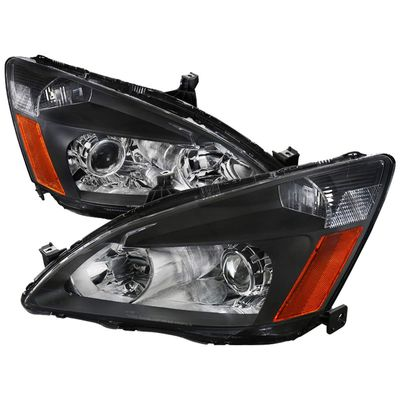 03-07 Honda Accord [Rretro Style] Projector Headlights - Black