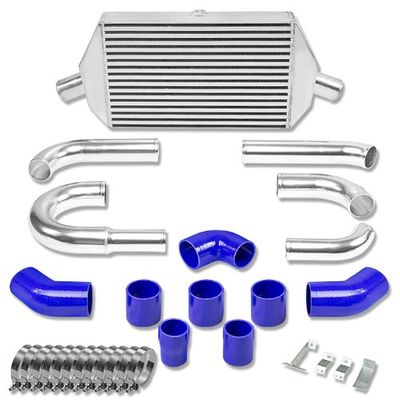 03-07 MITSUBISHI EVO 8/9 VIII/IX BOLT-ON ALUMINUM BAR & PLATE INTERCOOLER + PIPING