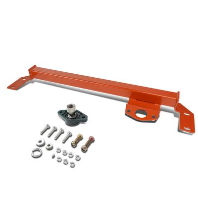 03-08 Dodge Ram 2500 3500 4WD / AWD Mild Steel Steering Gear Box Stabilizer Brace / Bar (Red) -Type 1