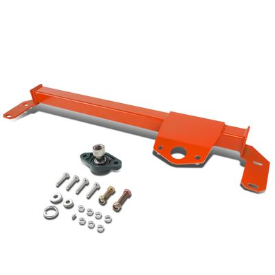 03-08 Dodge Ram 2500 3500 4WD / AWD Mild Steel Steering Gear Box Stabilizer Brace / Bar (Red) - Type 3