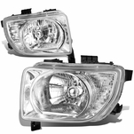 03-08 Honda Element [Non Sc Model] Replacement Headlights - Chrome / Clear