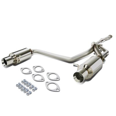 "03-08 Hyundai Tiburon GK l4 Stainless Steel Dual 4"" Rolled Tip Catback Exhaust System"