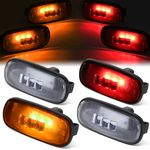 03-09 Dodge Ram Truck 4Pcs LED Dually Fender Marker Light Replacement Clear