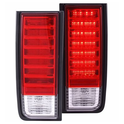 03-09 Hummer H2 SUV Euro Style LED Tail Lights - Red Clear