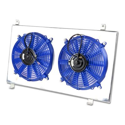 03-11 Honda Element MT Aluminum Bolt-on Cooling Radiator Fan Shroud - Blue