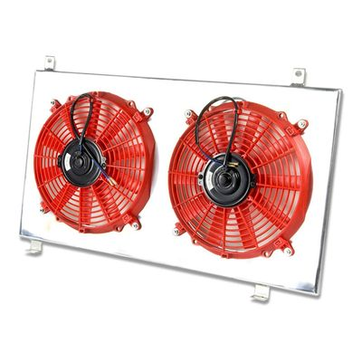 03-11 Honda Element MT Aluminum Bolt-on Cooling Radiator Fan Shroud - Red
