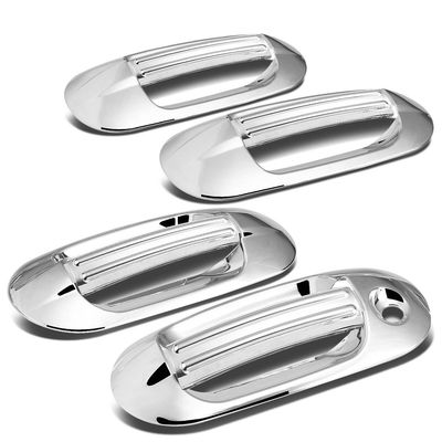 03-14 Ford Expedition / Navigator 4pcs Exterior Door Handle Cover with Driver Side Keyhole (Chrome)