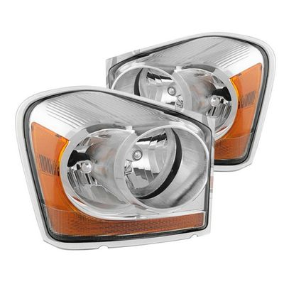 04-05 Dodge Durango OEM Style Replacement Headlights - Chrome