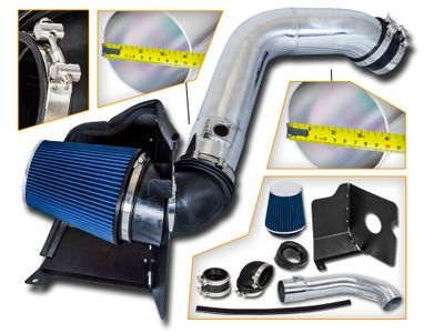 04-05 GMC Sierra / Chevy Silverado 2500HD/3500 V8 6.6L Duramax LLY Heat Shield Air Intake Kit - Blue