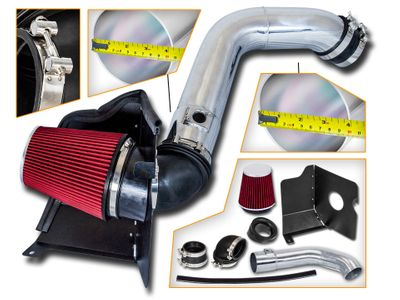 04-05 GMC Sierra / Chevy Silverado 2500HD/3500 V8 6.6L Duramax LLY Heat Shield Air Intake Kit - Red