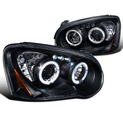 04-05 Subaru Impreza WRX / STI Angel Eye Halo LED Projector Headlights - Black