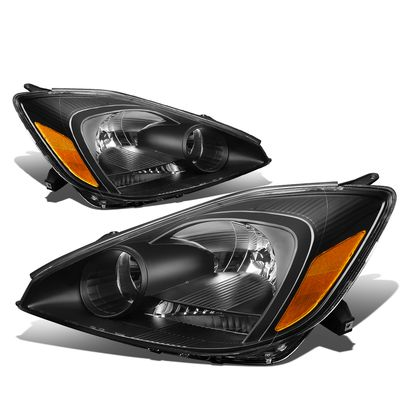04-05 Toyota Sienna [Halogen Type] OE-Style Replacement Headlights  - Black / Amber