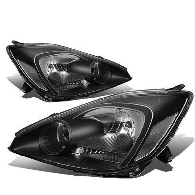 04-05 Toyota Sienna [Halogen Type] OE-Style Replacement Headlights  - Black / Clear