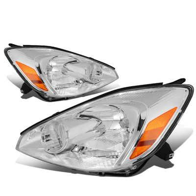 04-05 Toyota Sienna [Halogen Type] OE-Style Replacement Headlights  - Chrome / Amber