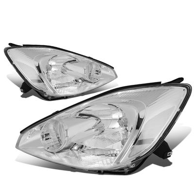 04-05 Toyota Sienna [Halogen Type] OE-Style Replacement Headlights  - Chrome / Clear