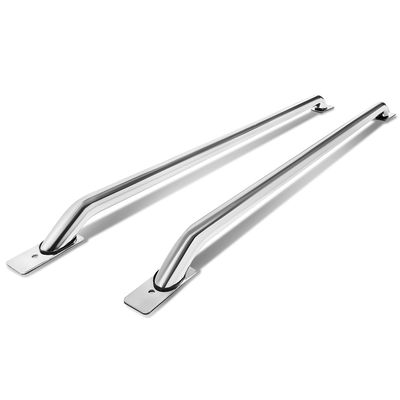 04-06 Chevy Silverado / GMC Sierra 5.5ft - 5.7ft Bed Stainless Steel Rail Bar - Chrome