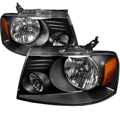 04-06 Ford F150 Pickup Truck Euro Style Headlights - Black