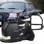 04-06 Ford F150 Power Heated Telescoping Towing Side Mirror+Clear LED Signal