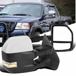 04-06 Ford F150 Power Heated Towing Side Mirrors+Clear LED Signal - Chrome Cover