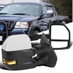 04-06 Ford F150 Power Heated Towing Side Mirrors+Smoke LED Signal - Chrome Cover