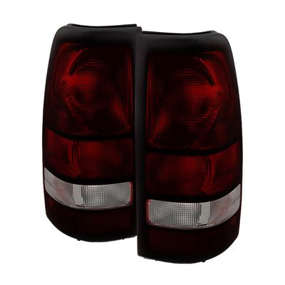 04-06 GMC Sierra [Non Step Side] OEM Style Replacement Tail Lights - Smoked