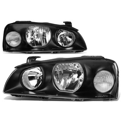 04-06 Hyundai Elantra Crystal Headlights - Black Clear