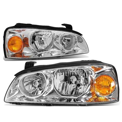 04-06 Hyundai Elantra Crystal Headlights - Chrome Amber
