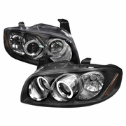 04-06 Nissan Sentra Dual Angel Eye Halo Projector Headlights - Black
