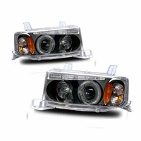 04-06 Scion xB Angel Eye Halo Projector Headlights - Black