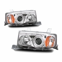 04-06 Scion xB Angel Eye Halo Projector Headlights - Chrome
