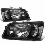 04-06 Toyota Highlander OE-Style Replacement Headlights  - Black / Clear