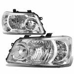04-06 Toyota Highlander OE-Style Replacement Headlights  - Chrome / Clear
