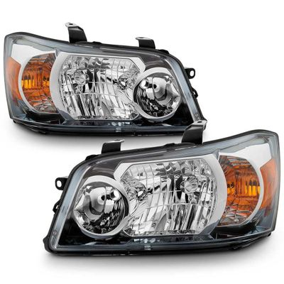 04-06 Toyota Highlander OE-Style Replacement Headlights Pair