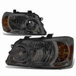 04-06 Toyota Highlander OE-Style Replacement Headlights  - Smoked / Amber