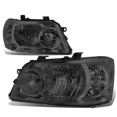 04-06 Toyota Highlander OE-Style Replacement Headlights  - Smoked Clear