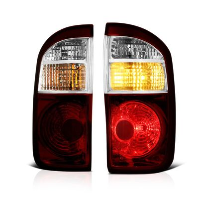 04-06 Toyota Tundra [Double Cab] OEM Style Replacement Tail Lights Pair - Smoked