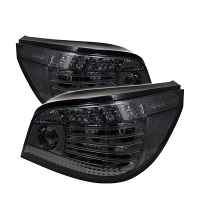 04-07 BMW E60 5-Series Euro Style LED Tail Lights - Smoked ALT-YD-BE6004-LED-SM By Spyder
