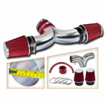 04-07 JEEP Liberty 3.7L V6 Dual Twin Air Intake - Red Filter