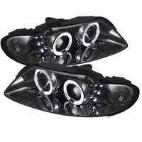 04-06 Pontiac GTO Angel Eye Halo & LED Projector Headlights - Smoked