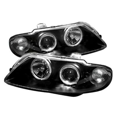 04-06 Pontiac GTO Angel Eye Halo & LED Projector Headlights - Black