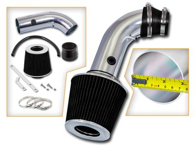 04-08 Chevy Aveo 1.6L L4 Short Ram Air Intake Kit - Black