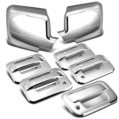 04-08 Ford F-150 11th Gen 4DR Tailgate+Door Handle w/Passenger Keyhole+Mirror Cover (Chrome)