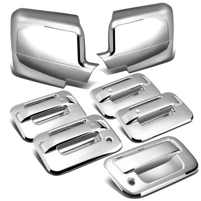 04-08 Ford F-150 11th Gen 4DR Tailgate w/Keyhole+Door Handle+Full Mirror Cover (Chrome)