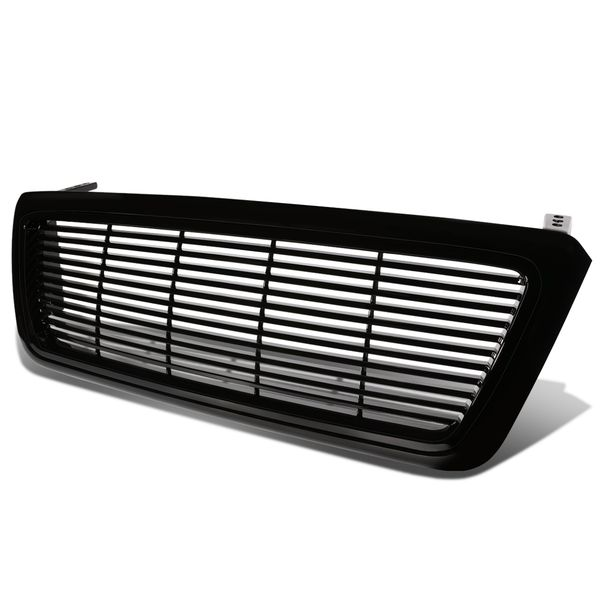 04-08 Ford F-150 ABS Plastic Horizontal Upper Front Grill - Black