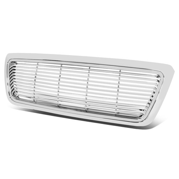 04-08 Ford F-150 ABS Plastic Horizontal Upper Front Grill - Chrome